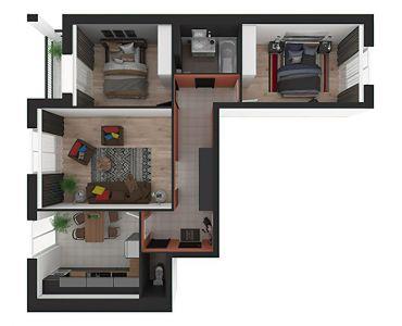 3 кімнатні