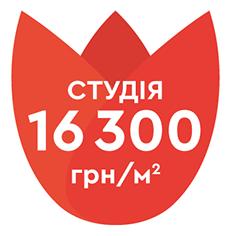 + студия 16300 грн/м2