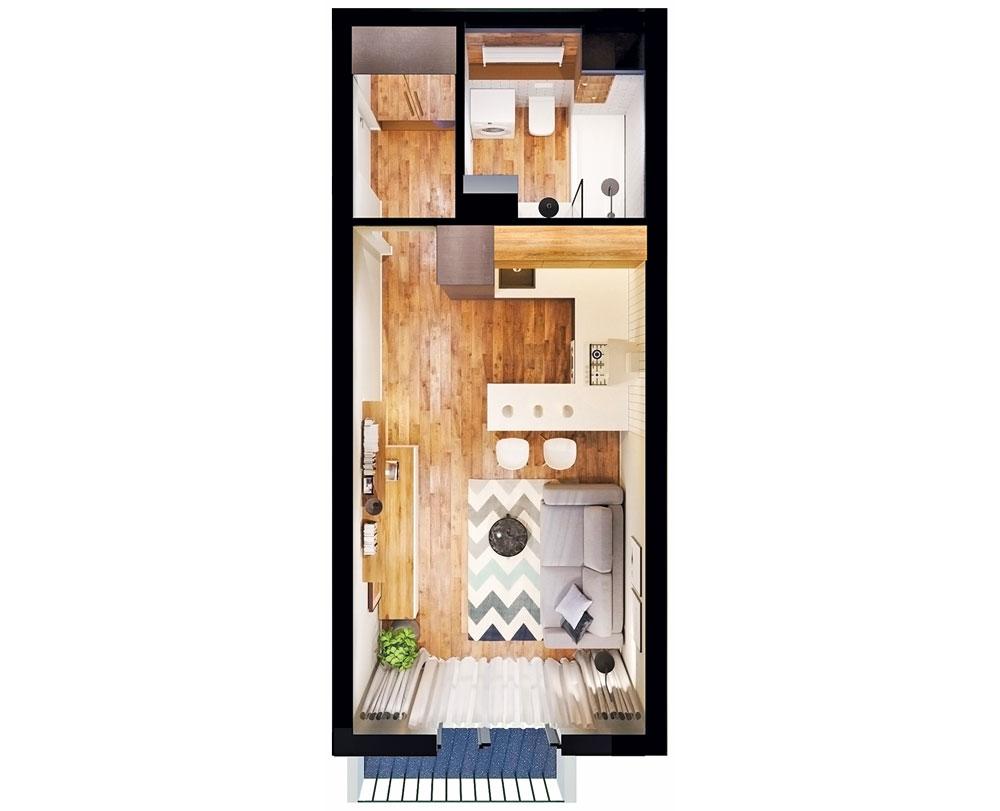 1-комнатная квартира (29,51 м2)
