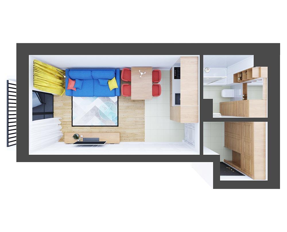 1-кімнатна квартира (30,86 м2)