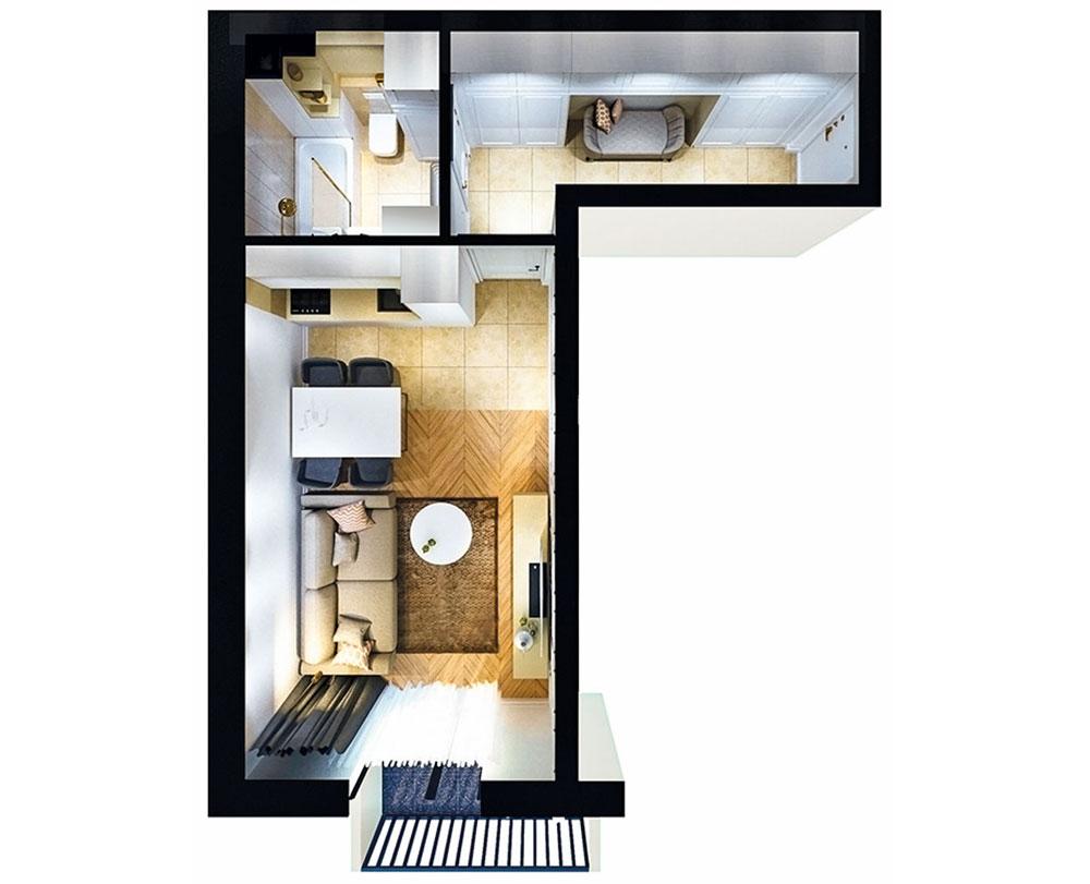 1-кімнатна квартира (31,18 м2)