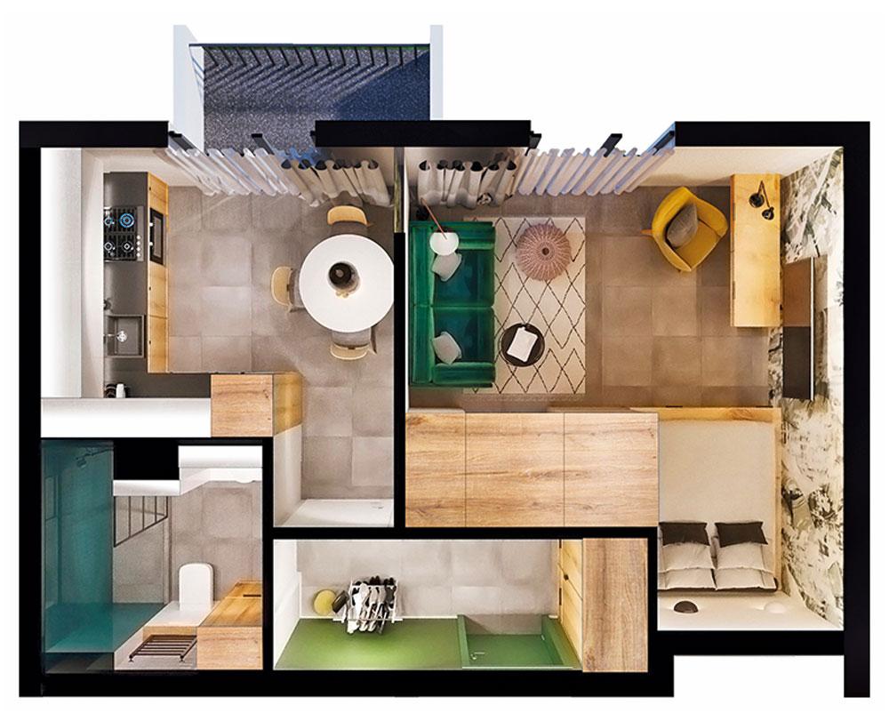 1-кімнатна квартира (37,72 м2)