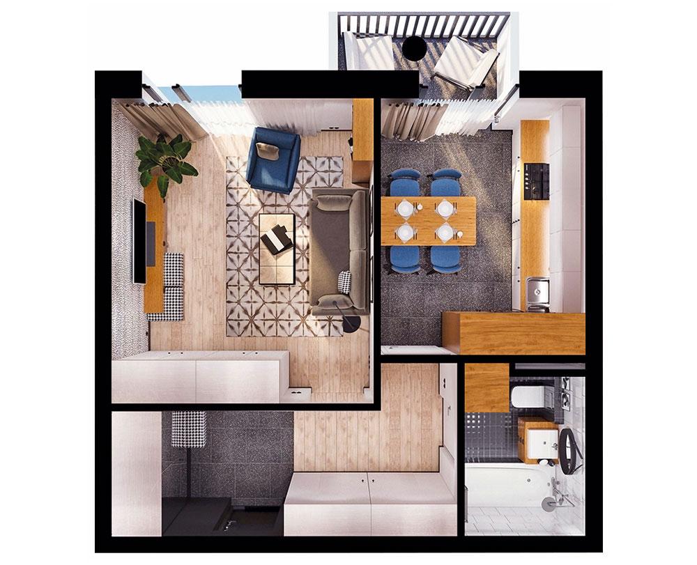 1-кімнатна квартира (39,91 м2)