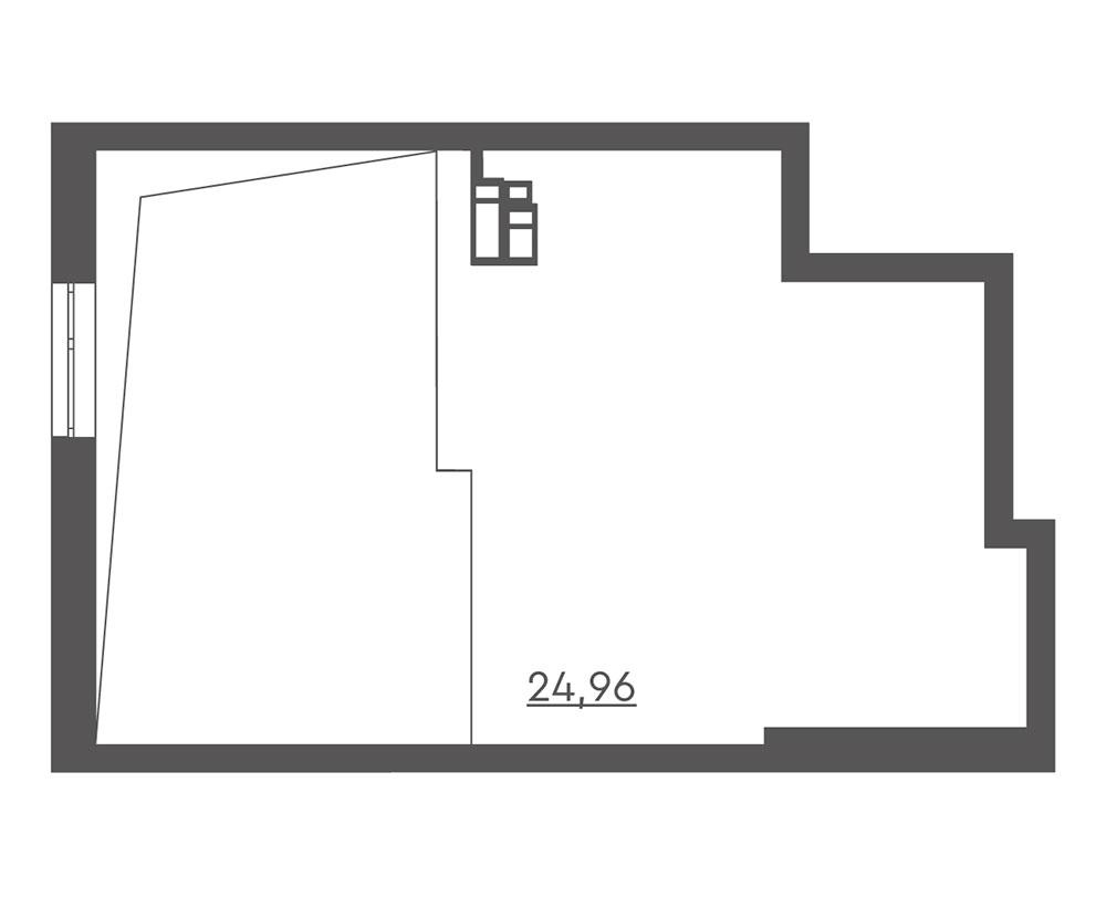 1-кімнатна Scandia (59,99 м2)