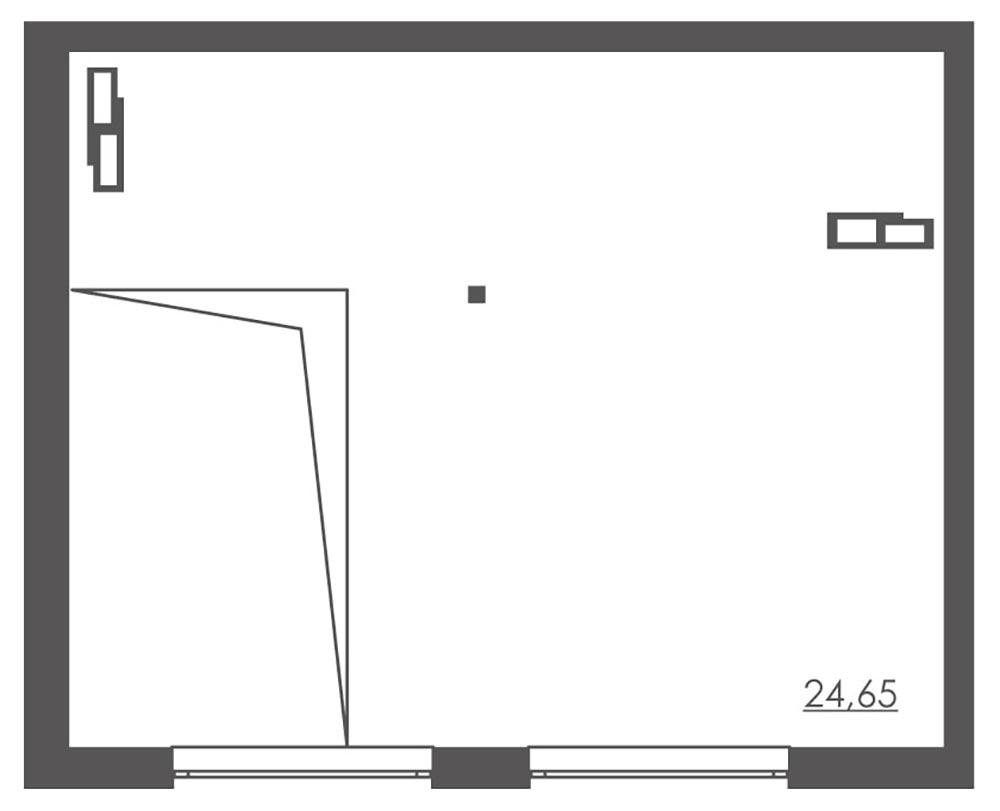 1-комнатная Scandia (63,10 м2)