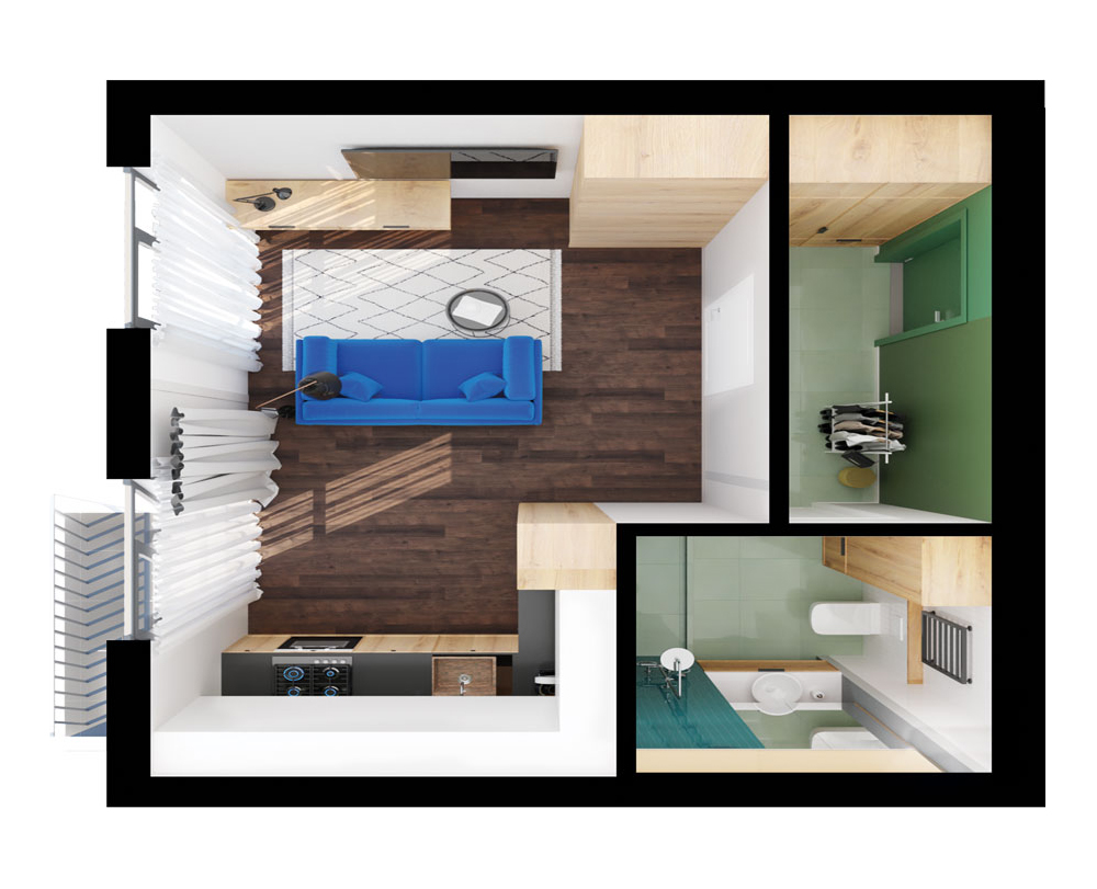 1-комнатная квартира 35,70 м2