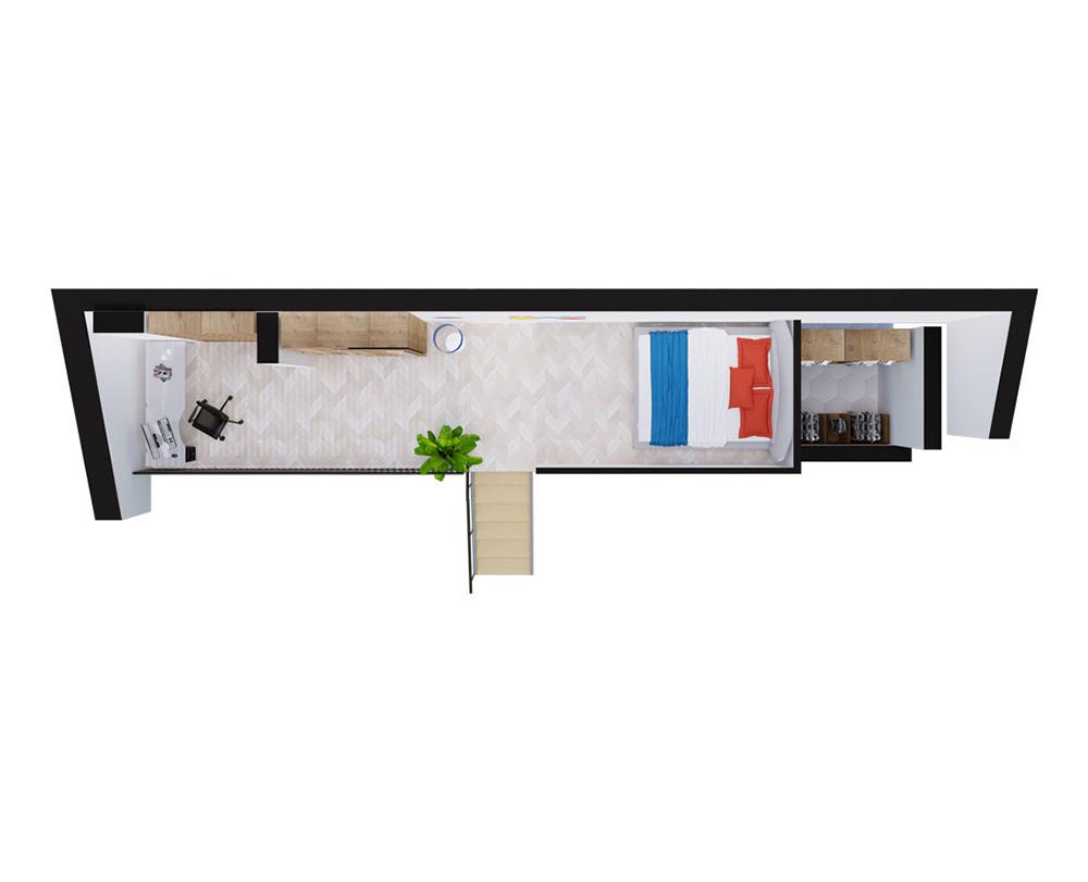 1-кімнатна Scandia 71,01 м2