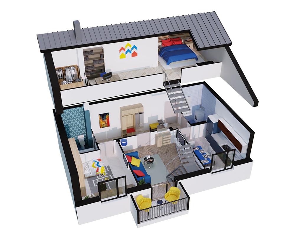 2-кімнатна Scandia 86,98 м2