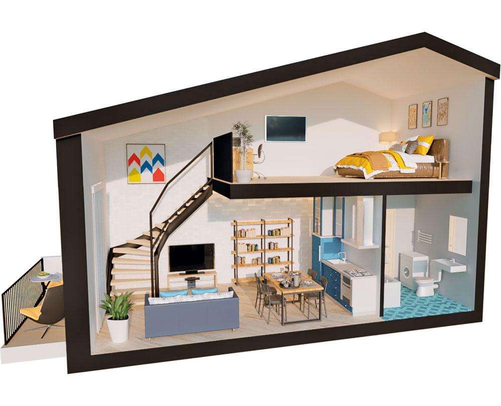1-кімнатна Scandia (44,66 м2)