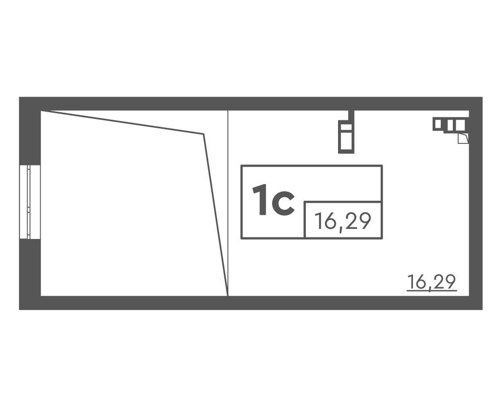 1-кімнатна Scandia (46,91 м2)