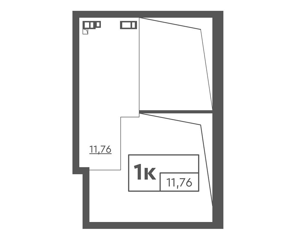 1-комнатная Scandia (51,81 м2)