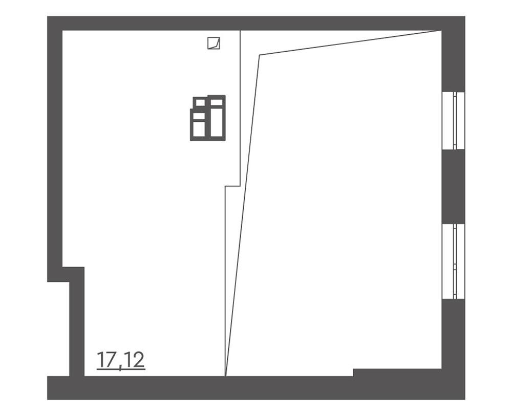 1-кімнатна Scandia (58.21 м2)