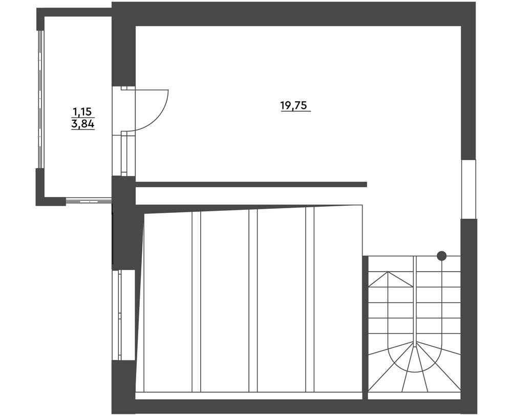 1-комнатная Scandia (58,77 м2)