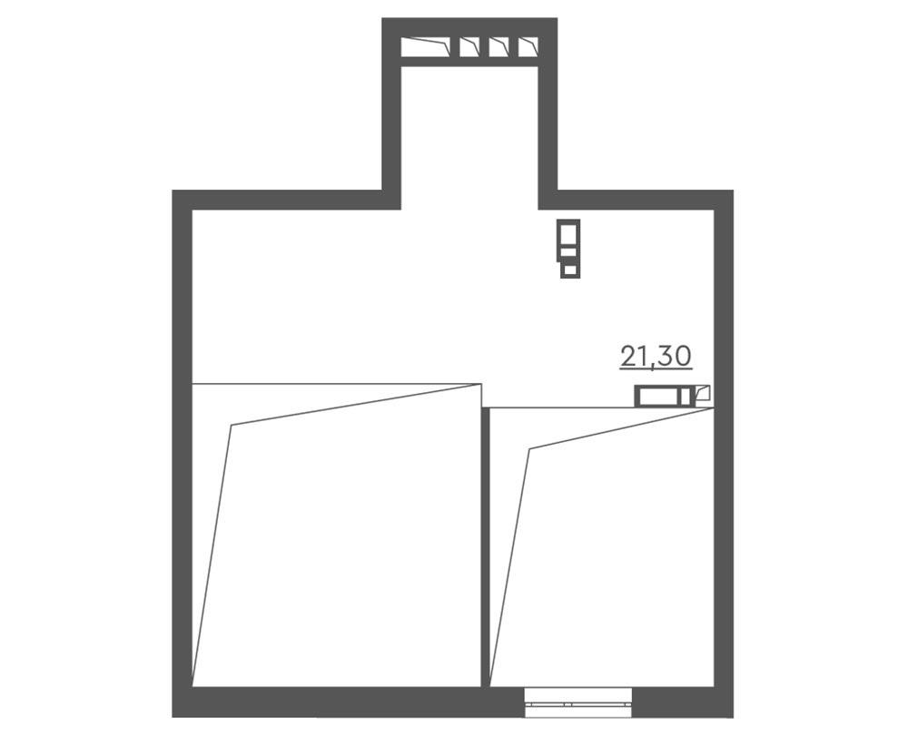 1-кімнатна Scandia (64,90 м2)