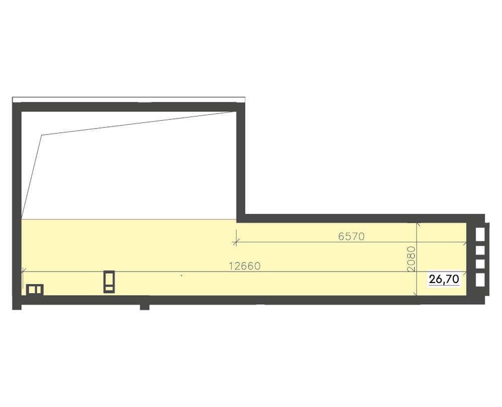 1-кімнатна Scandia (72,44 м2)